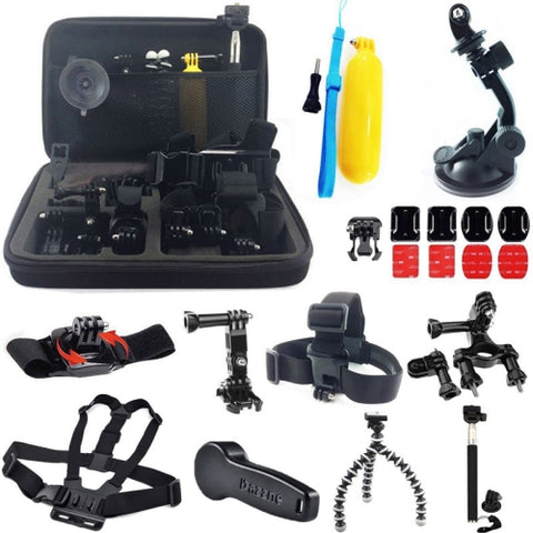 24-in-1 Accessories Kit with Carrying Case for GoPro Hero4 / 3+ / 3 / 2 / 1   Lead Time: 1~3 Days.