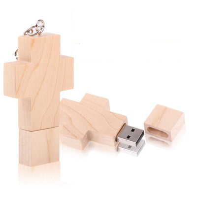8 GB Wood Cross Style USB Flash Disk   Lead Time: 1~3 Days.