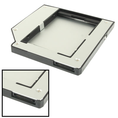 2.5 inch 2nd HDD Hard Drive Caddy SATA for IBM ThinkPad T60 / T61 / X61 / T60P / T61P / Z60 / Z61(Thickness: 9.5mm)(Silver)