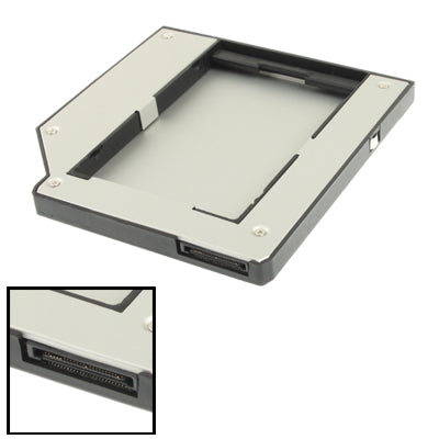 2.5 inch 2nd HDD Hard Drive Caddy IDE for IBM ThinkPad T60 / T61 / T61P / T60P / X61 / Z60 / Z61,Thickness: 9.5mm(Silver)