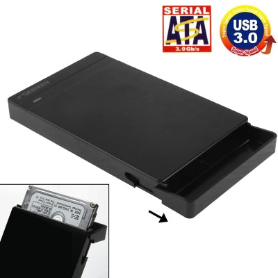 2.5 inch SATA HDD / SDD External Enclosure, Tool Free, USB 3.0 Interface(Black)   Lead Time: 1~3 Days.