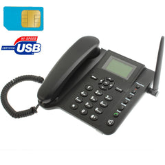 2.4 inch TFT Screen Fixed Wireless GSM Business Phone, Quad band: GSM 850/900/1800/1900Mhz(Black)   Lead Time: 1~3 Days.