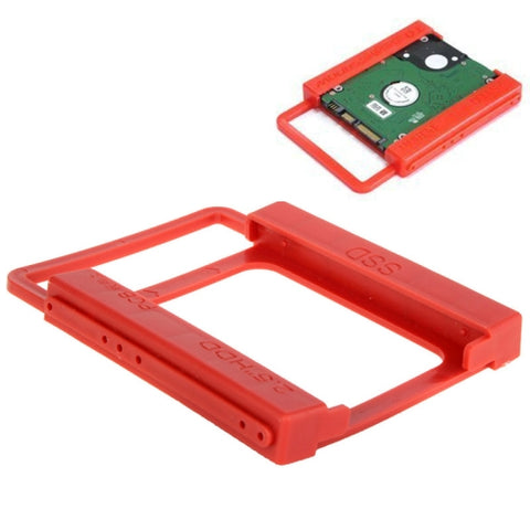 2.5 inch to 3.5 inch SSD HDD Notebook Hard Disk Drive Mounting Bracket Adapter Holder Hot Search(Red)   Lead Time: 2~5 Days.
