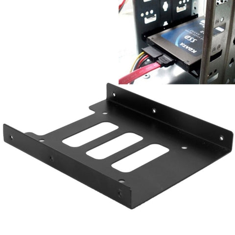 SSD HDD 2.5 inch to 3.5 inch Converter Hard Drive Metal Bracket Adapter Holder(Black)   Lead Time: 1~3 Days.