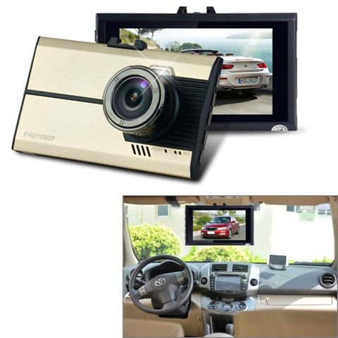 GEBITE G660 Full HD 1080P 3.0 inch Screen Display Vehicle DVR, 160 Degree Wide Angle Viewing, Support Loop Recording / Motion Detection / G-sensor / Lock Screen Function / Night Vision / Parking Guard