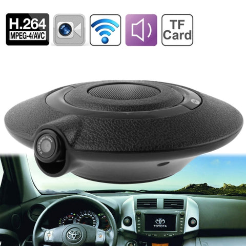 UFO-828 0.3 Mega Pixels H.264 Driving Recorder / Bluetooth Speaker with Bluetooth Hands-free, Support TF Card up to 64GB (Viewing Angle: 90 Degrees)