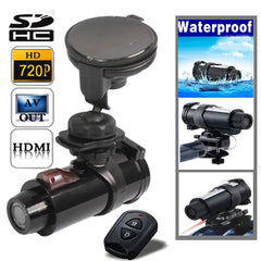 HD 720P Waterproof Sport Helmet Action Camera DVR, Support SD Card, Viewing Angle: 120 Degree , Using on the Bike , Motor