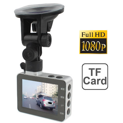 2.8 inch Full HD 1080P Vehicle DVR with H.264 Video format, Support Micro SD/TF Card, Viewing Angle: 120 Degree, Loop Recording & Motion Detection function