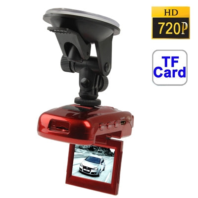 ZH-880 HD 720P 2.0 inch Screen Vehicle DVR, Support TF Card, 4X Digital Zoom, AVI Video Format, Motion Detection Video Recording Function(Red)