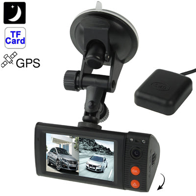 Full HD 1080P 3.0 inch Touch Screen Vehicle DVR / Car Camcorder with GPS Antenna, Support G-sensor / Motion Detection / Emergency Recording / TF Card