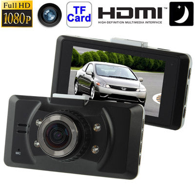 Full HD 1080P 2.7 inch Screen Vehicle DVR, Support TF Card / Night Vision / TV OUT / Motion Detection, 170 Degree Wide Angle Lens
