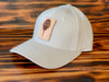 Structured Twill Leather Patch hat