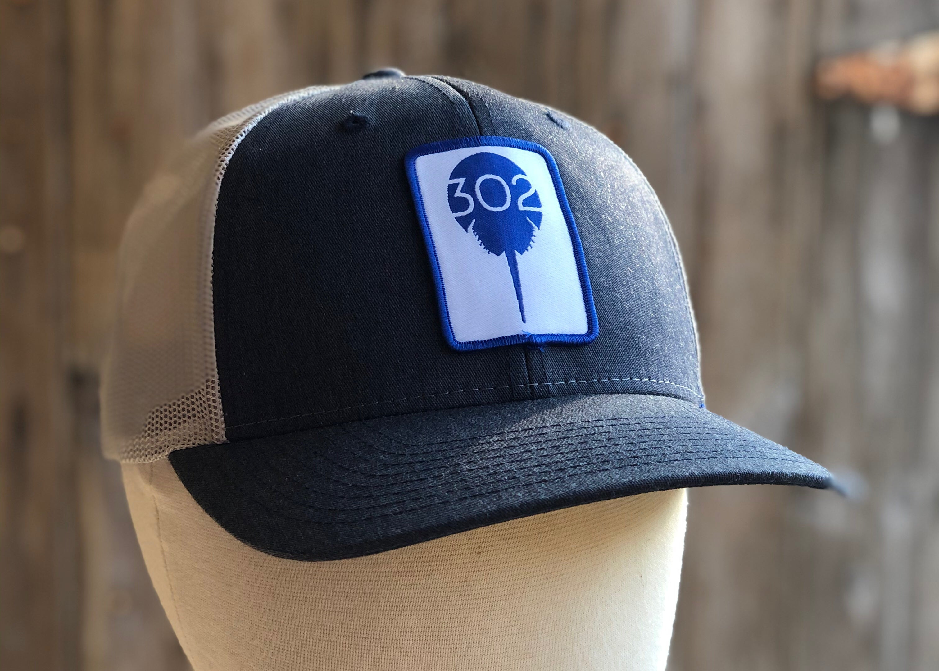 Blue Patch Trucker, two colors