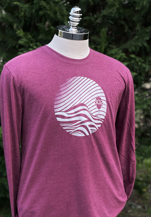 Sunset waves sueded longsleeve tee
