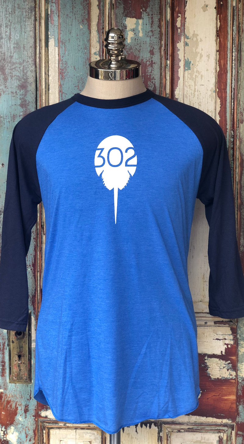 Blue/Navy Baseball Tee