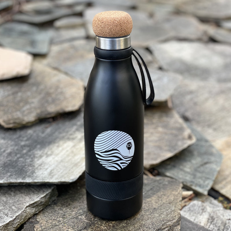 Cork Top Water Bottle, Vacuum Insulated