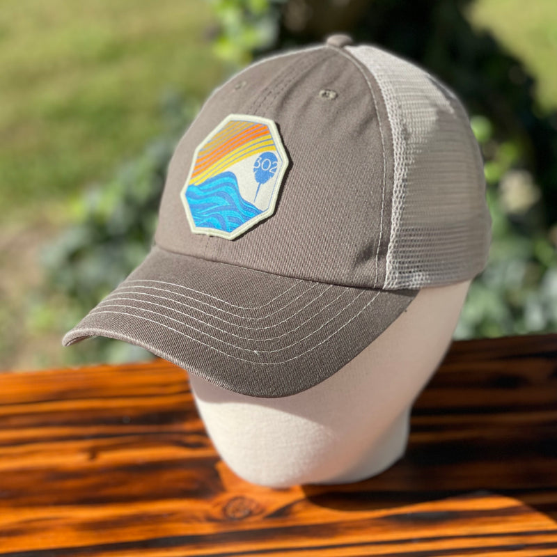 Unstructured Sunset/Waves Hat