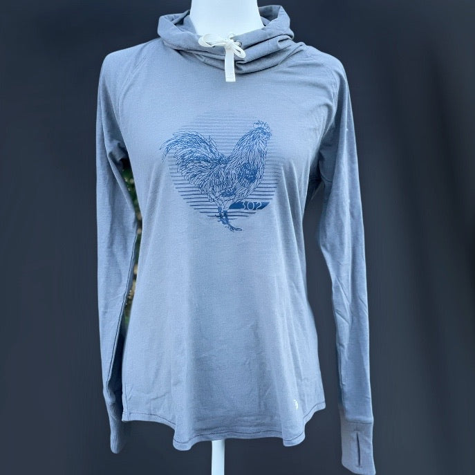 Sueded Cowl Neck Blue Hen