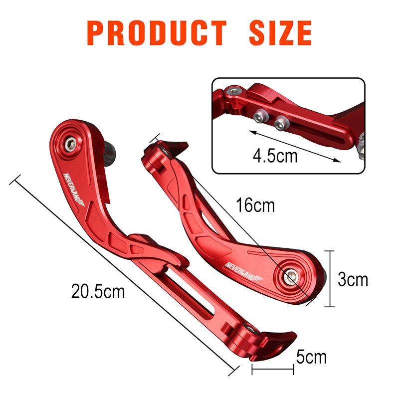 Motorcycle 22mm Bar End Lever Guards Protectors Brake Protection CNC Neverland
