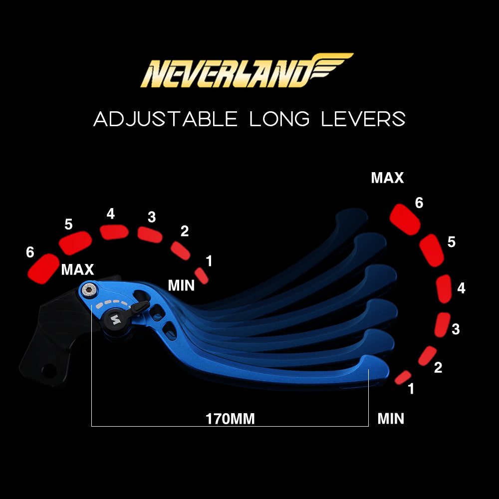 CNC Long Adjustable Brake Clutch Matte levers for SUZUKI