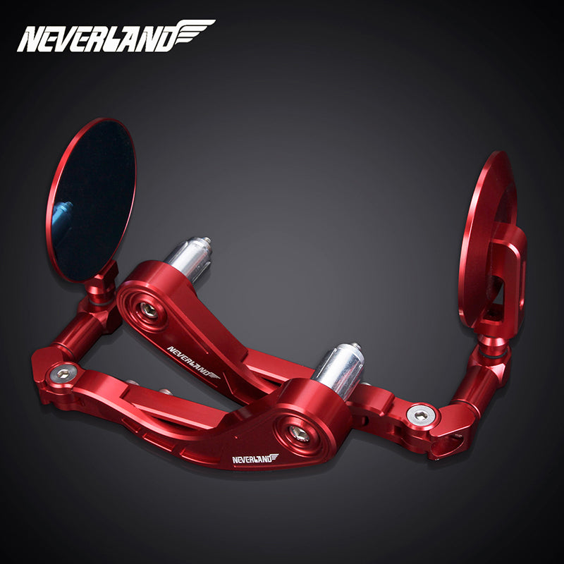 "7/8"" 22mm Motorcycle CNC Handle Bar End Rear View Side Mirrors"