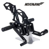 Black  Rearsets Footpegs For Suzuki GSX-R 600 GSXR750 06-10 09 08 CNC Adjustable