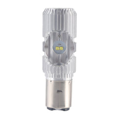 BA20D H/L 20W 6000K 9-100V Motorcycle ATV LED Bulb DRL Headlight Fog Light Lamp