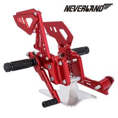 Red  CNC Adjustable Rearsets Footpegs For Suzuki GSX-R 600 GSXR750 2006-10