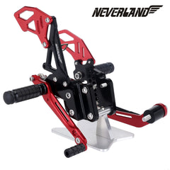 Black Red CNC Adjustable Rearsets Footpegs For Suzuki GSX-R 600 GSXR750 06-10 09 08