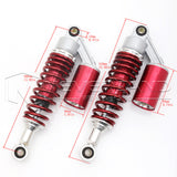 "11"" 280mm Motorcycle Rear Shock Absorbers Air Suspension For Kawasaki Pink"