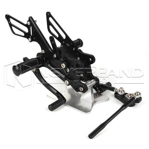 Motorcycle CNC Rearset Footpegs Rear Set For Honda CBR600RR Non-ABS 09-12 Black