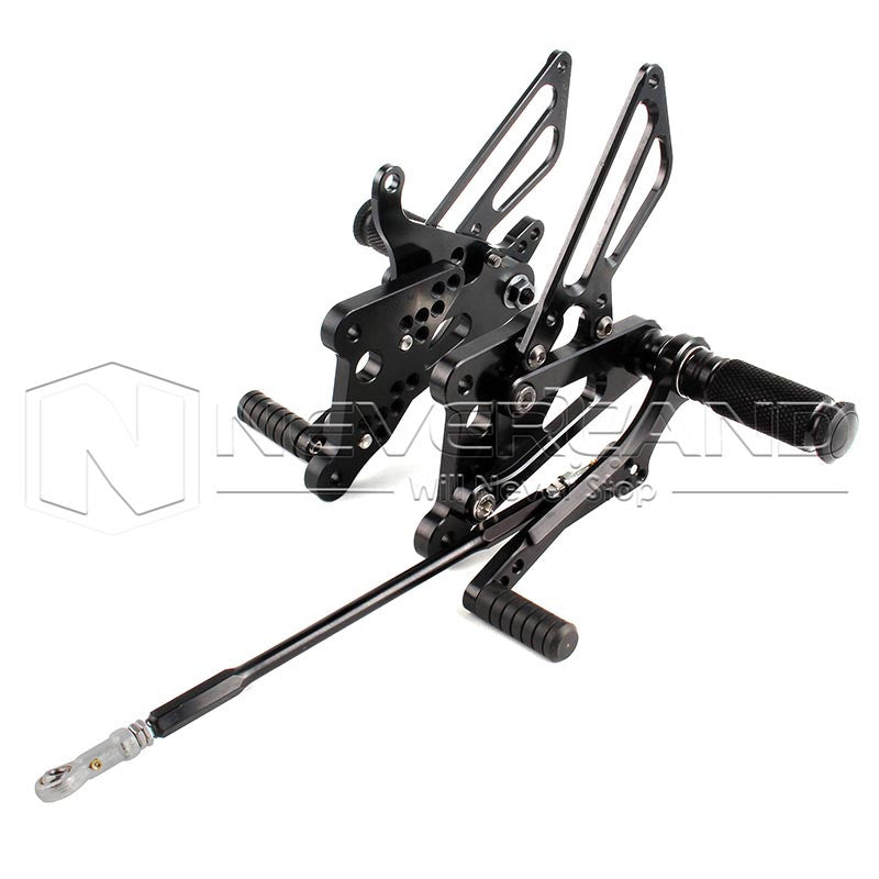 Adjustable Rearset Foot Pegs Footrest Racing for Yamaha YZF R6 600 2003-2005 04