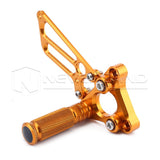 Adjustable CNC Racing Foot Pegs Pedals Rearset Rear Set For DUCATI 749/999 KTM