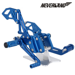 Blue CNC Adjustable Rearsets Footpegs For Suzuki GSX-R 600 GSXR750 06-10 09 08