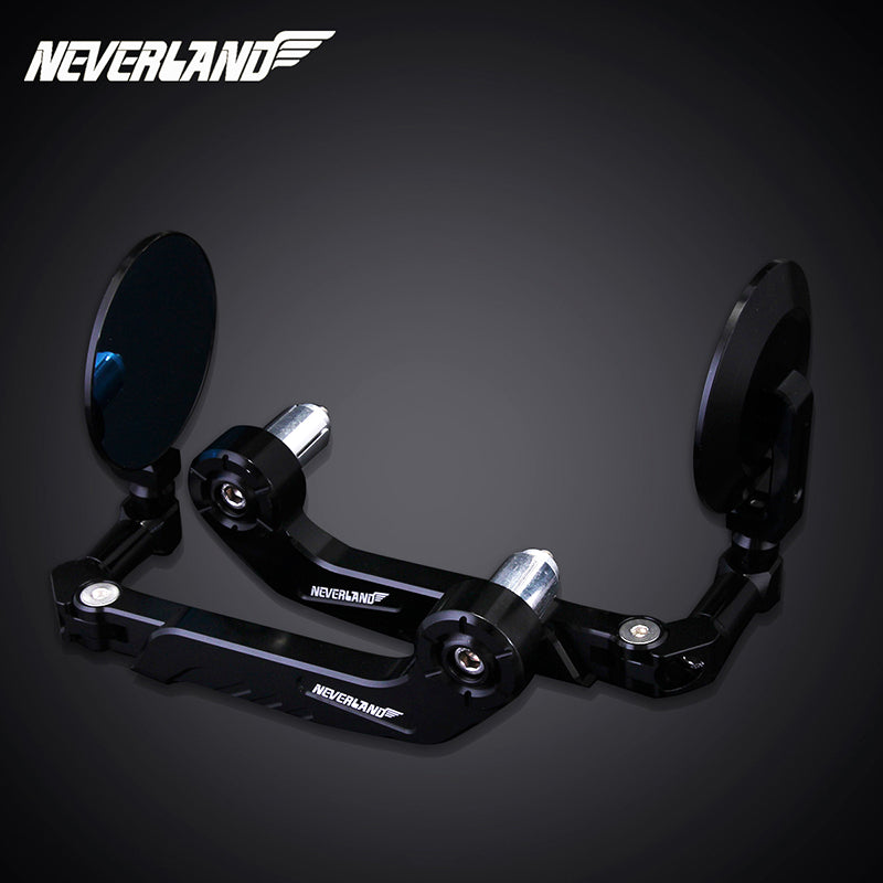"Pair Motorcycle 7/8"" 22mm Handle Bar End Rearview Mirrors Side Mirrors NEVERLAND"
