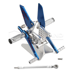 CNC Rearsets Footpegs Foot Pegs Rest for Suzuki GSXR600/750/1000 00-04 NEVERLAND