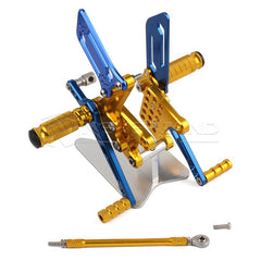 Rearset Rear Footpeg for Suzuki GSXR600/1000 00-04 GSXR750 SV650/S Gold&Blue