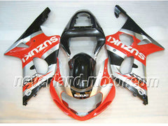 SUZUKI GSX-R 1000 2000-2002 K1 ABS Fairing - Orange/Silver/Black