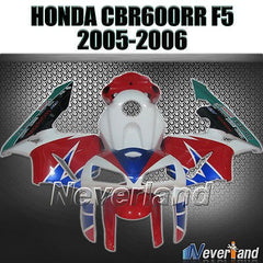 ABS Bodywork Fits 05-06 Honda CBR600RR F5 05-06 Injection  Kit