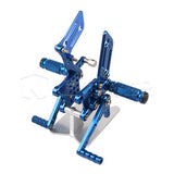 CNC Rearset Foot Pegs Rest Racing for Suzuki 00-04 GSXR600/750/1000 SV650/S Blue