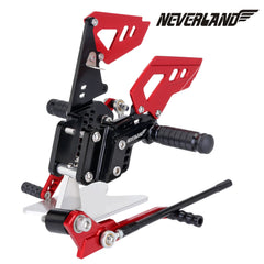 Black & Red CNC Adjustable Rearsets Footpegs For Suzuki GSX-R 600 GSXR750 06-10 09 08