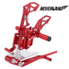 Red CNC Adjustable Rearsets Footpegs For Suzuki GSX-R 600 GSXR750 06-10