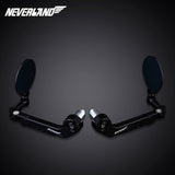 "Pair Motorcycle 7/8"" 22mm Handle Bar End Rearview Mirrors Side Mirrors NEVERLAND - neverland-motor"