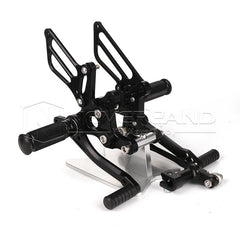 Rearset Foot Pegs Footrest Pedals For TRIUMPH T595 T509 955i SPEED TRIPLE 2010