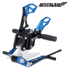 Blue & Black CNC Adjustable Footpegs For Suzuki GSX-R 600 GSXR750 06-10 09 08 Rearsets