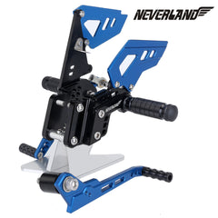 Black & Blue CNC Adjustable Rearsets Footpegs For Suzuki GSX-R 600 GSXR750 06-10