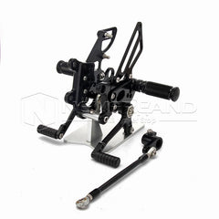 Rear Set Foot Pegs Pedals Rearset Black For Aprilia RSV4 (R/Factory) 2009 2010