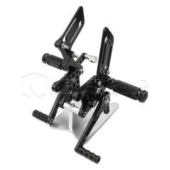 Rearset Footpegs Adjustable for Suzuki GSXR600/1000 00-04 GSXR750 SV650/S Black