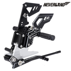 Black CNC Adjustable Rearsets Footpegs For Suzuki GSX-R 600 GSXR750 06-10 07 08 09 10