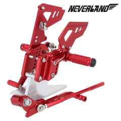 Red CNC Adjustable Rearsets Footpegs For Suzuki GSX-R 600 GSXR750 06-10 09 08